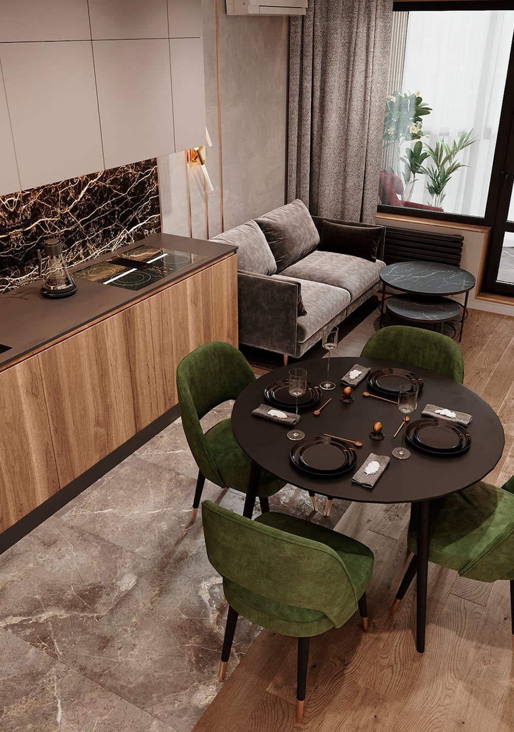 красивый дизайн кухни 94