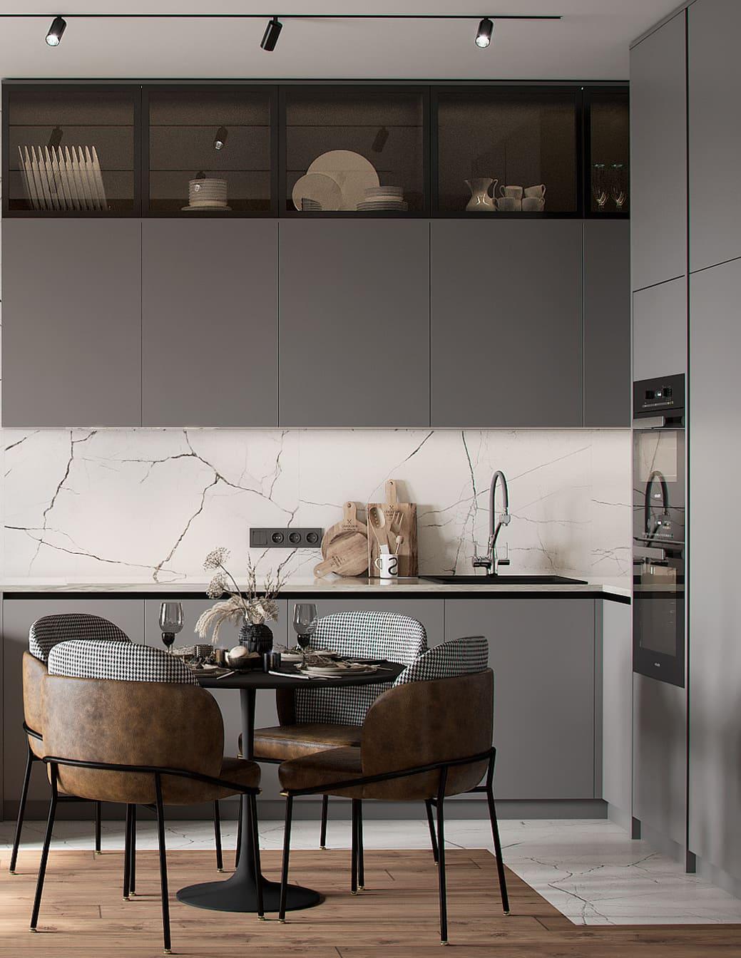красивый дизайн кухни 82