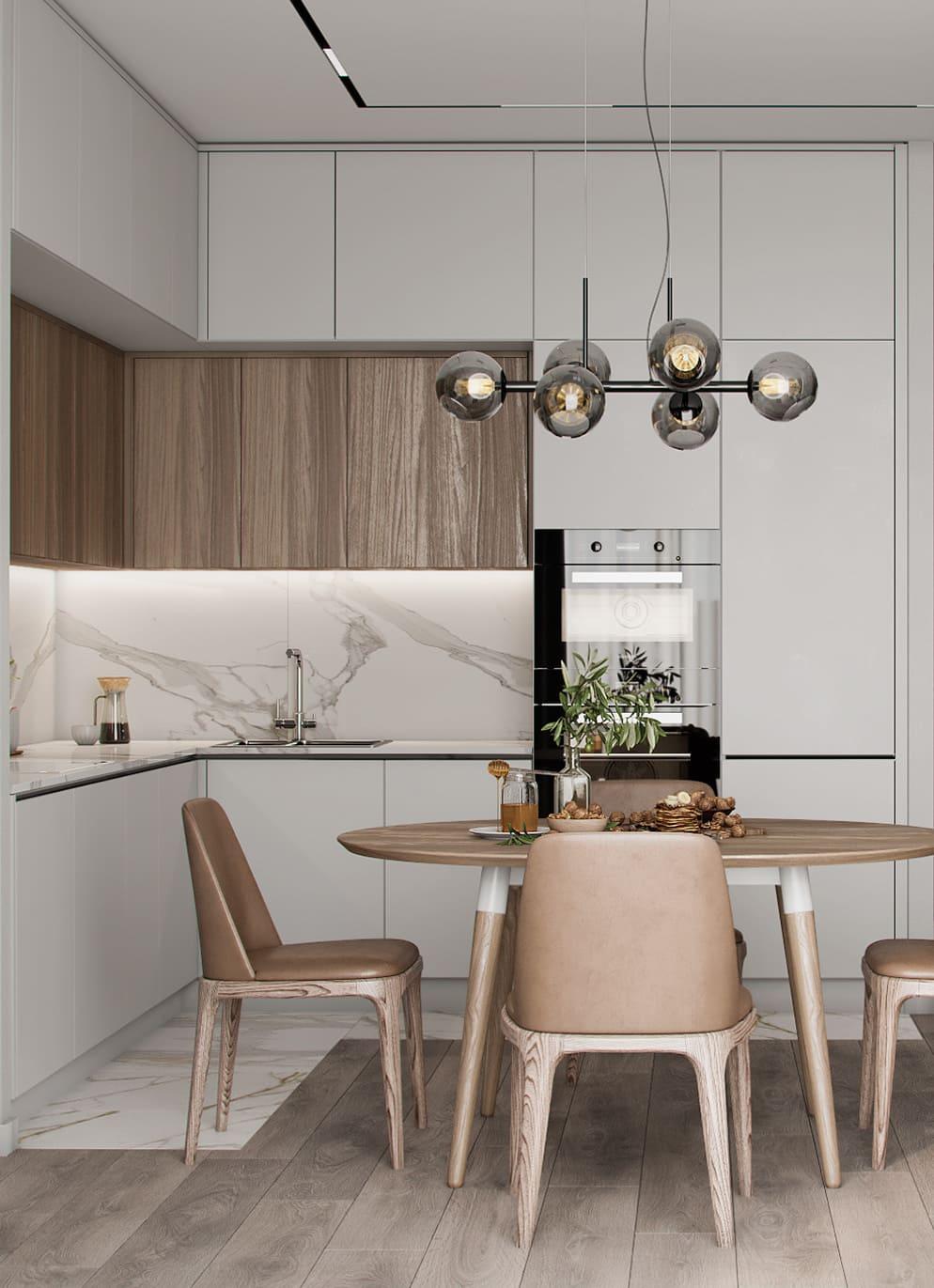 красивый дизайн кухни 65