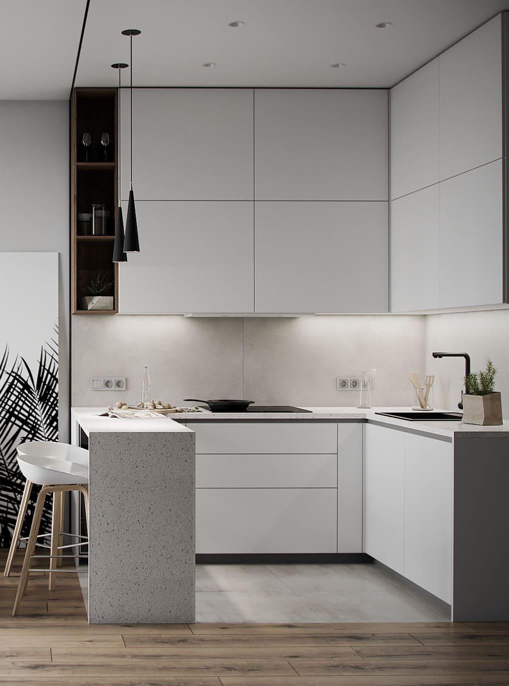 красивый дизайн кухни 66