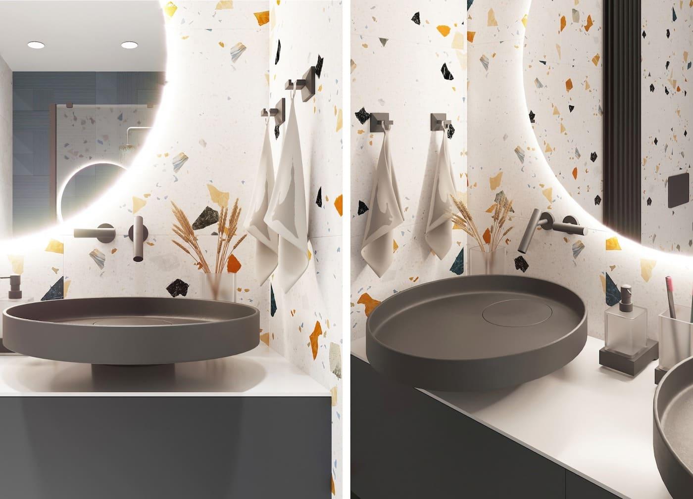 дизайн маленькой ванной фото 50