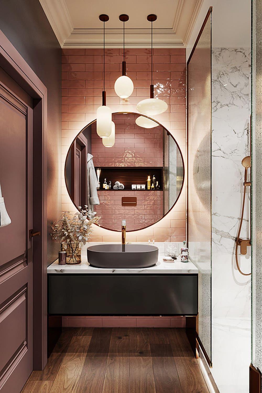 дизайн маленькой ванной фото 15