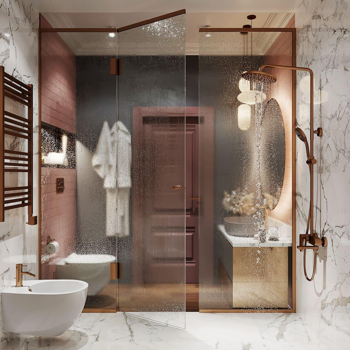 дизайн маленькой ванной фото 18