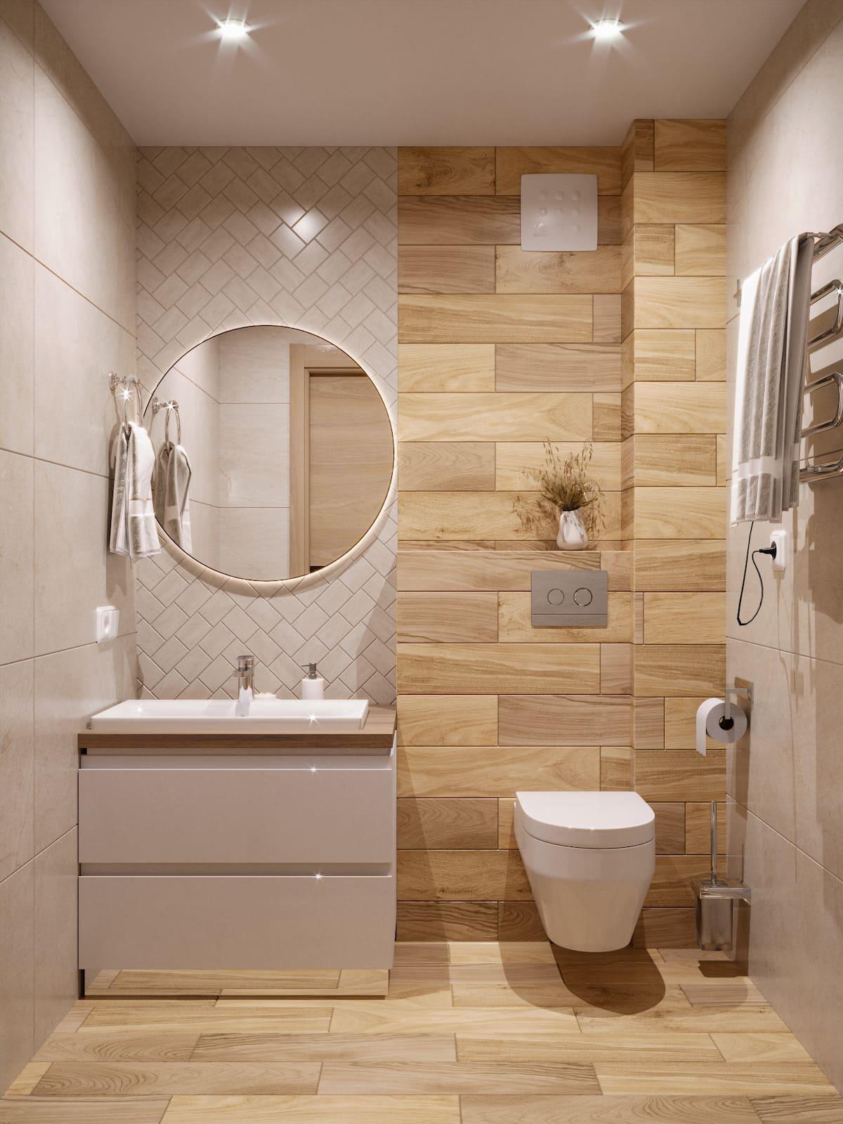 дизайн маленькой ванной фото 21