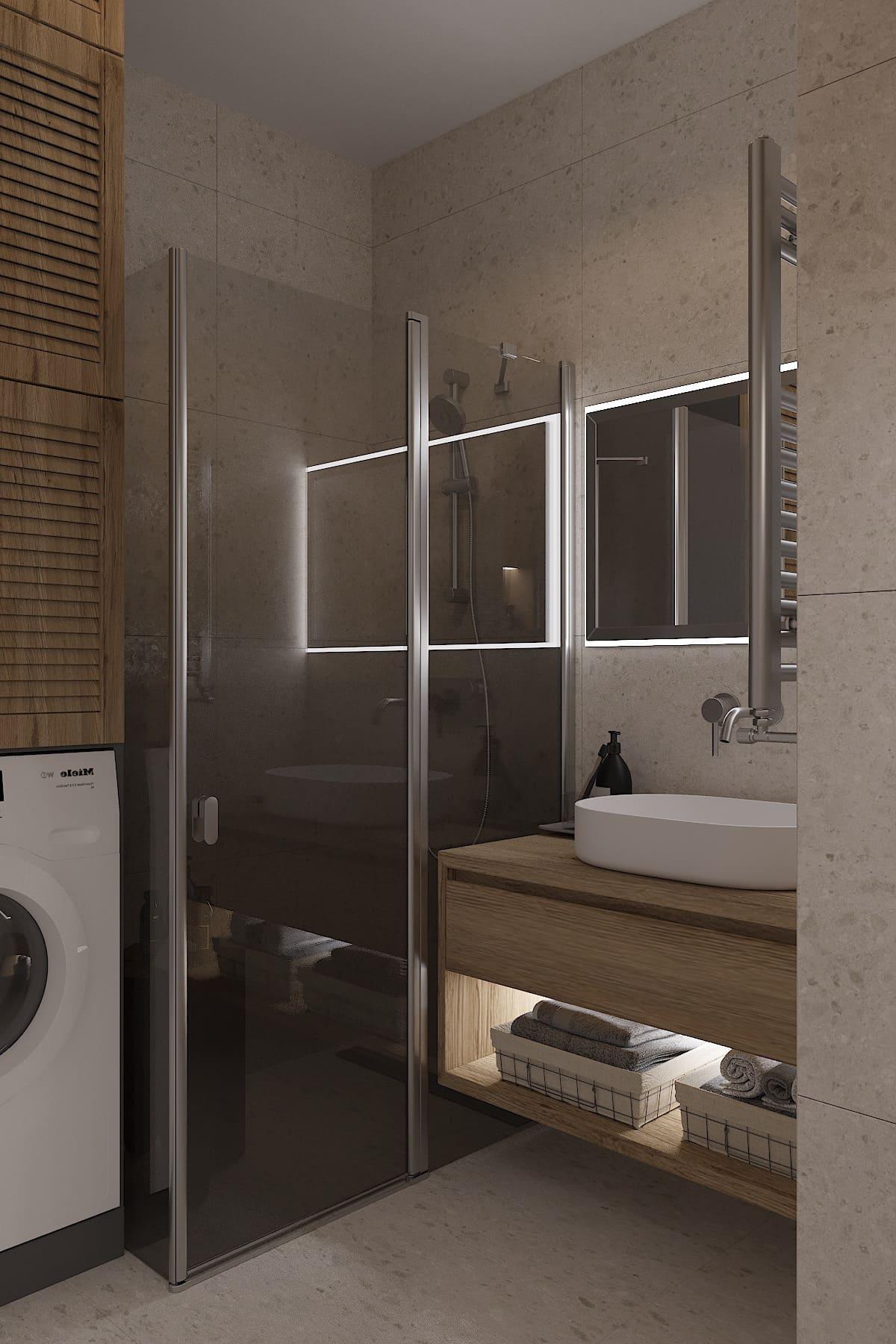 дизайн маленькой ванной фото 27