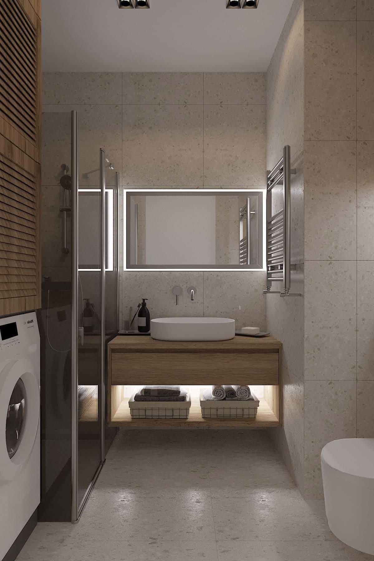дизайн маленькой ванной фото 30