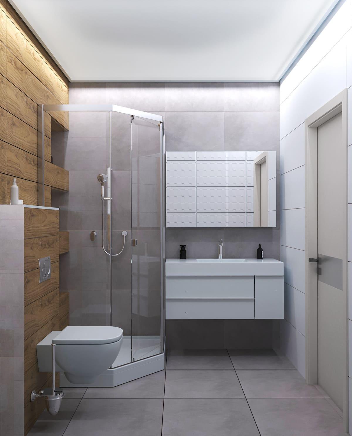 дизайн маленькой ванной фото 59