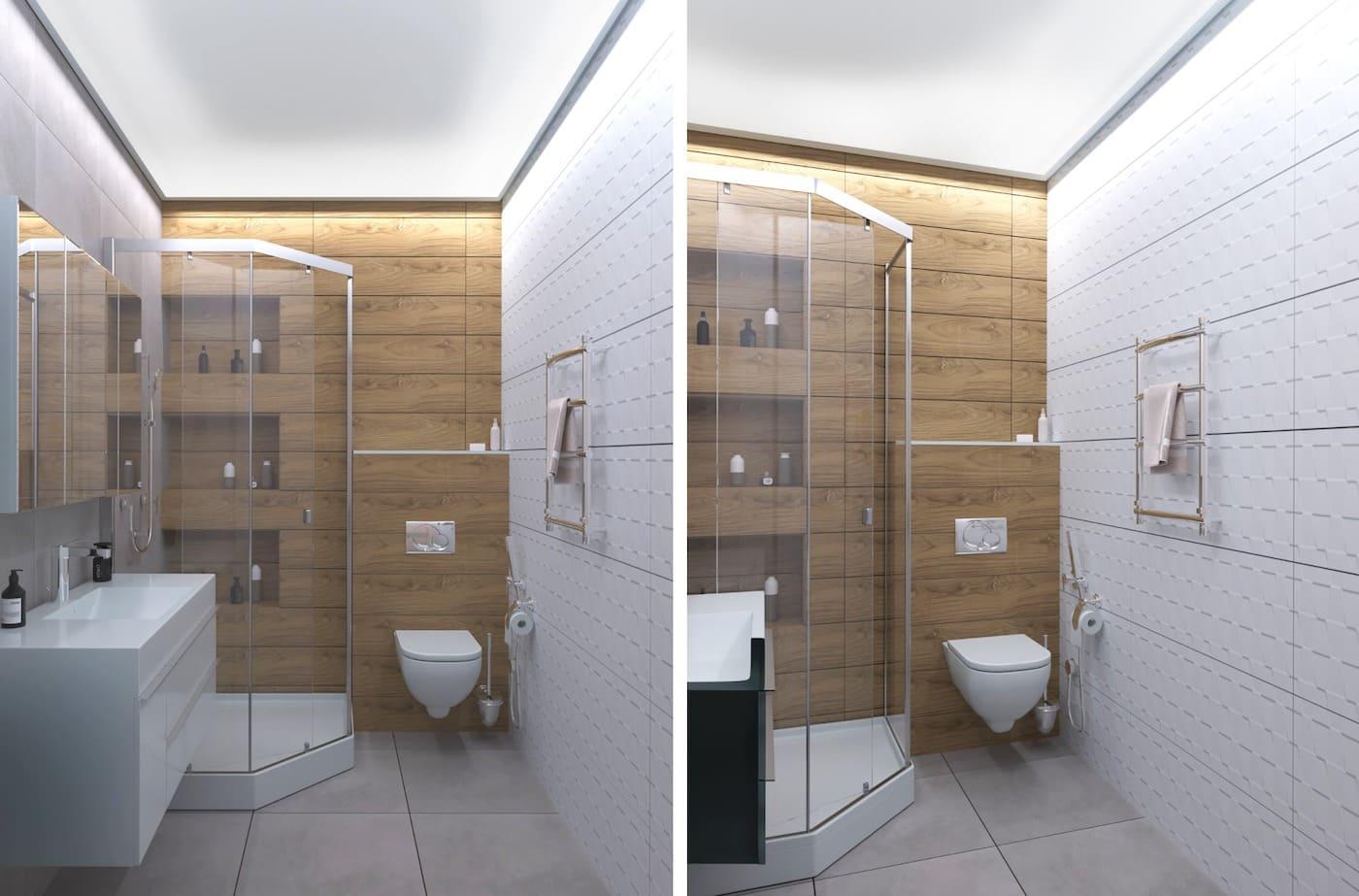 дизайн маленькой ванной фото 60