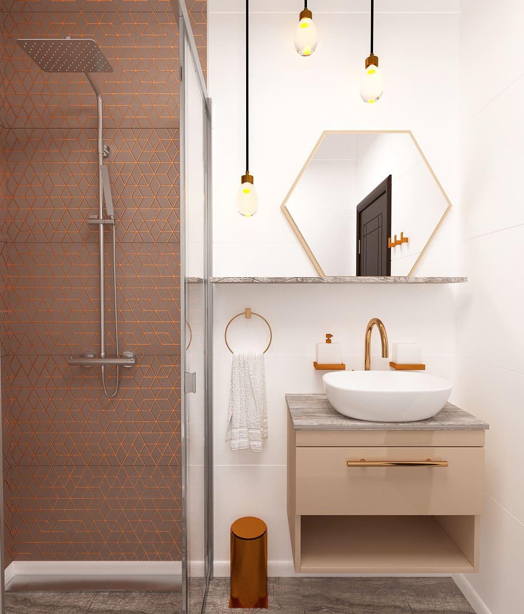 дизайн маленькой ванной фото 10