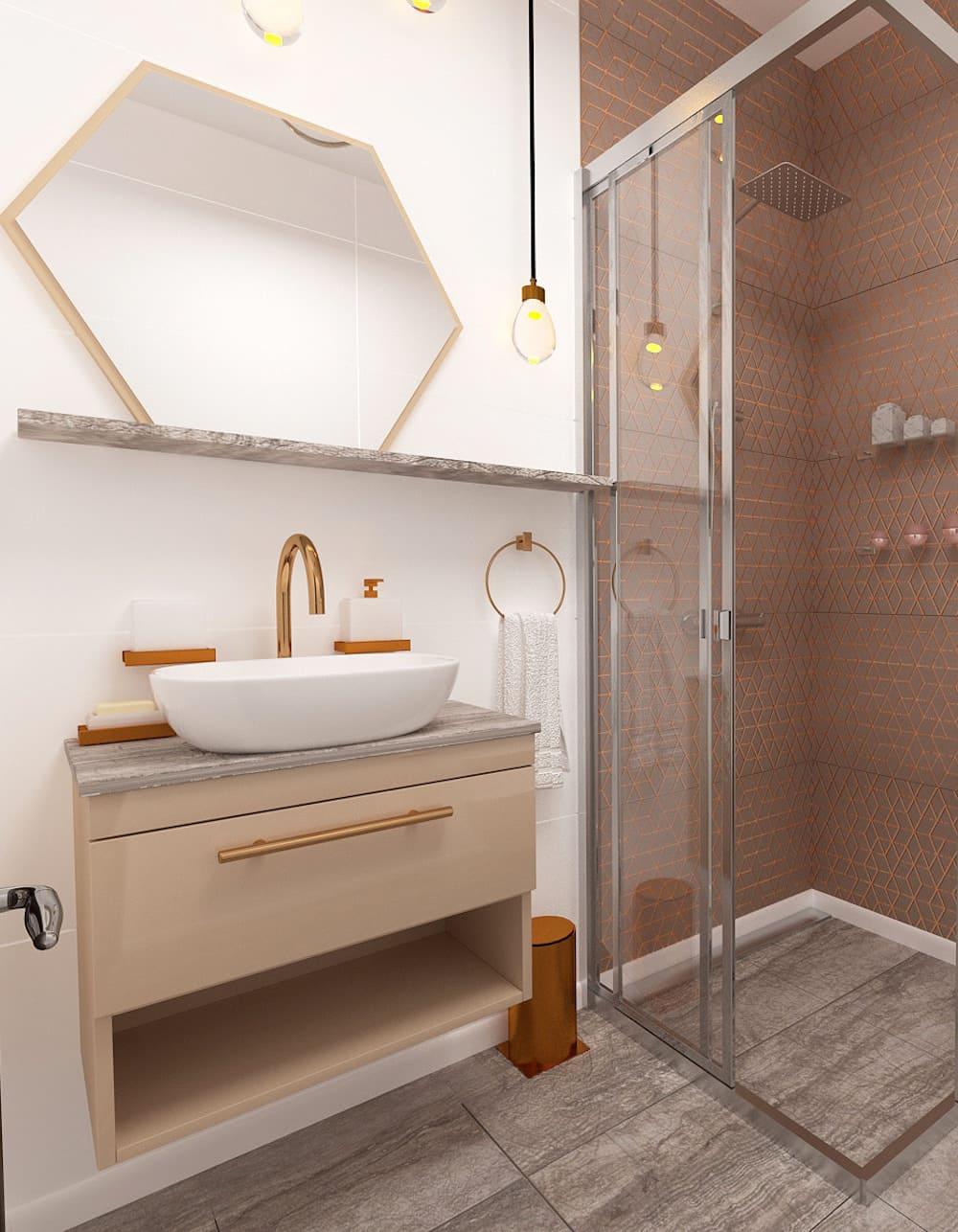 дизайн маленькой ванной фото 13