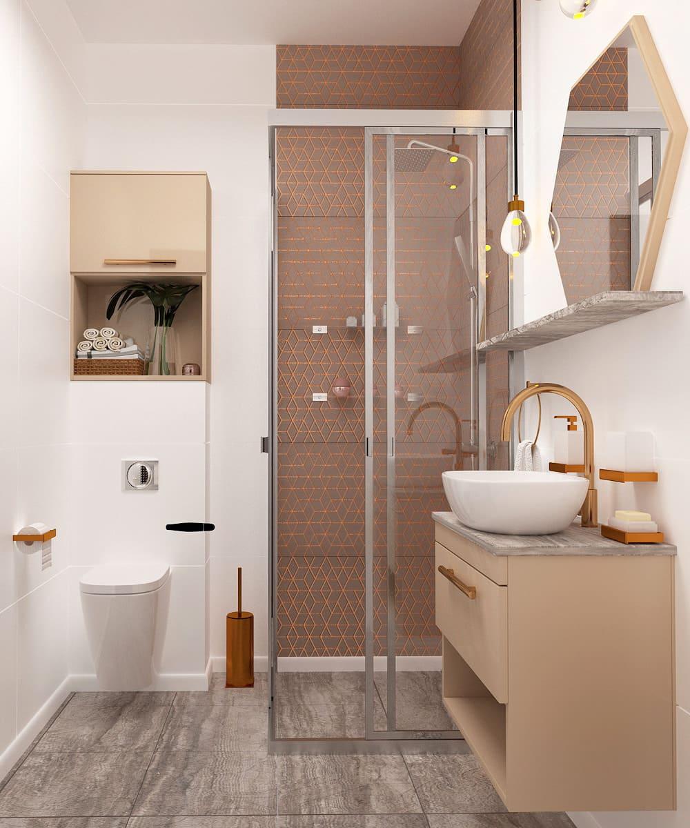 дизайн маленькой ванной фото 14