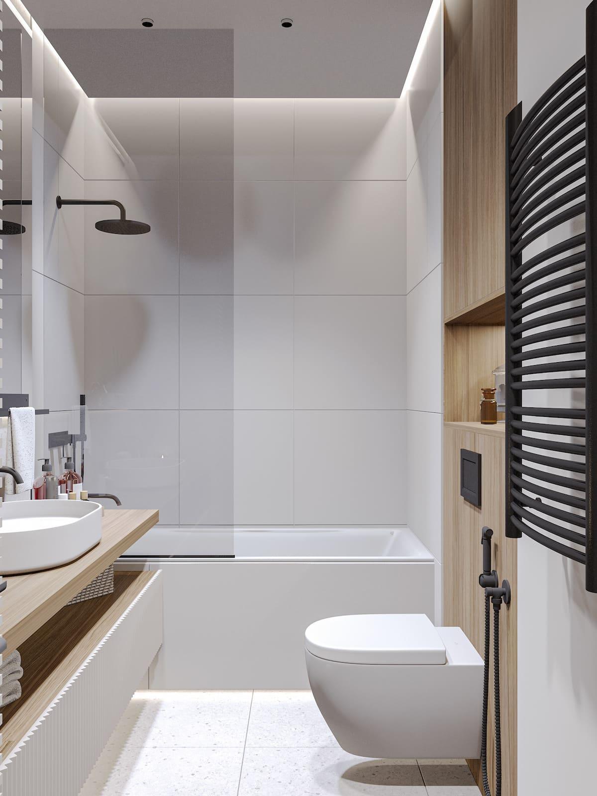 дизайн маленькой ванной фото 37