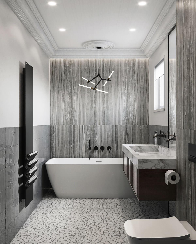 дизайн маленькой ванной фото 46
