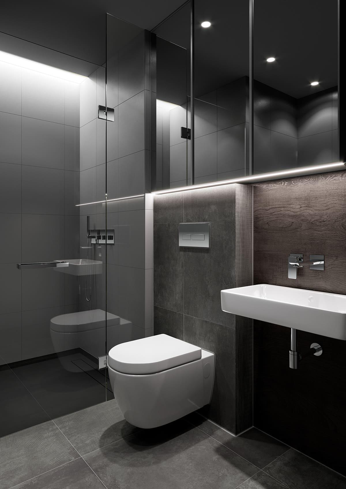 дизайн маленькой ванной фото 87