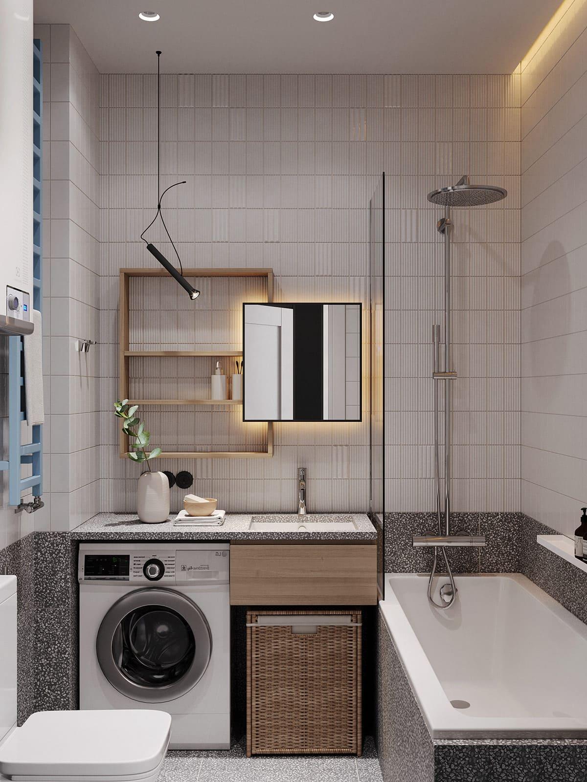 дизайн маленькой ванной фото 74