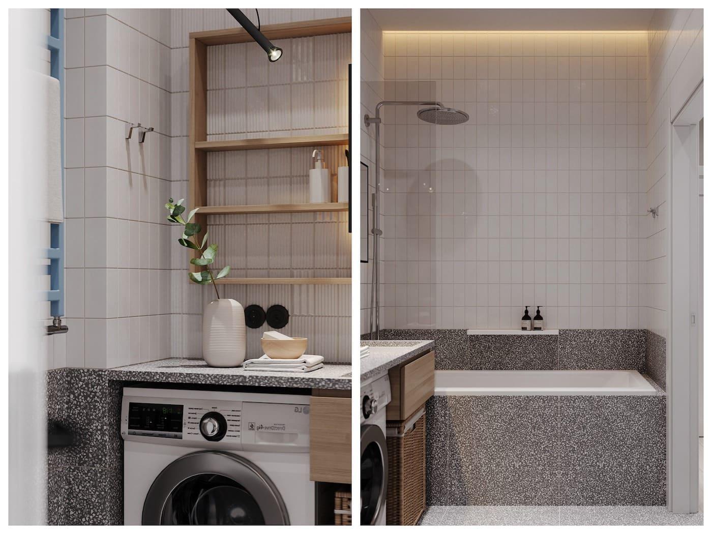 дизайн маленькой ванной фото 75