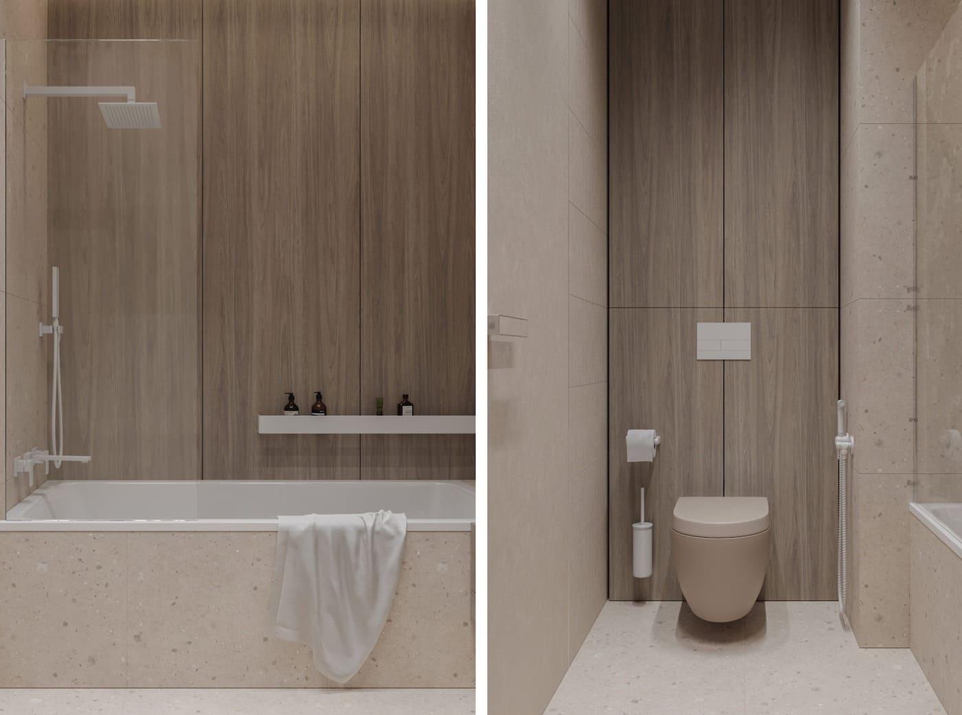 дизайн маленькой ванной фото 56