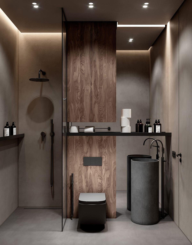 дизайн маленькой ванной фото 57