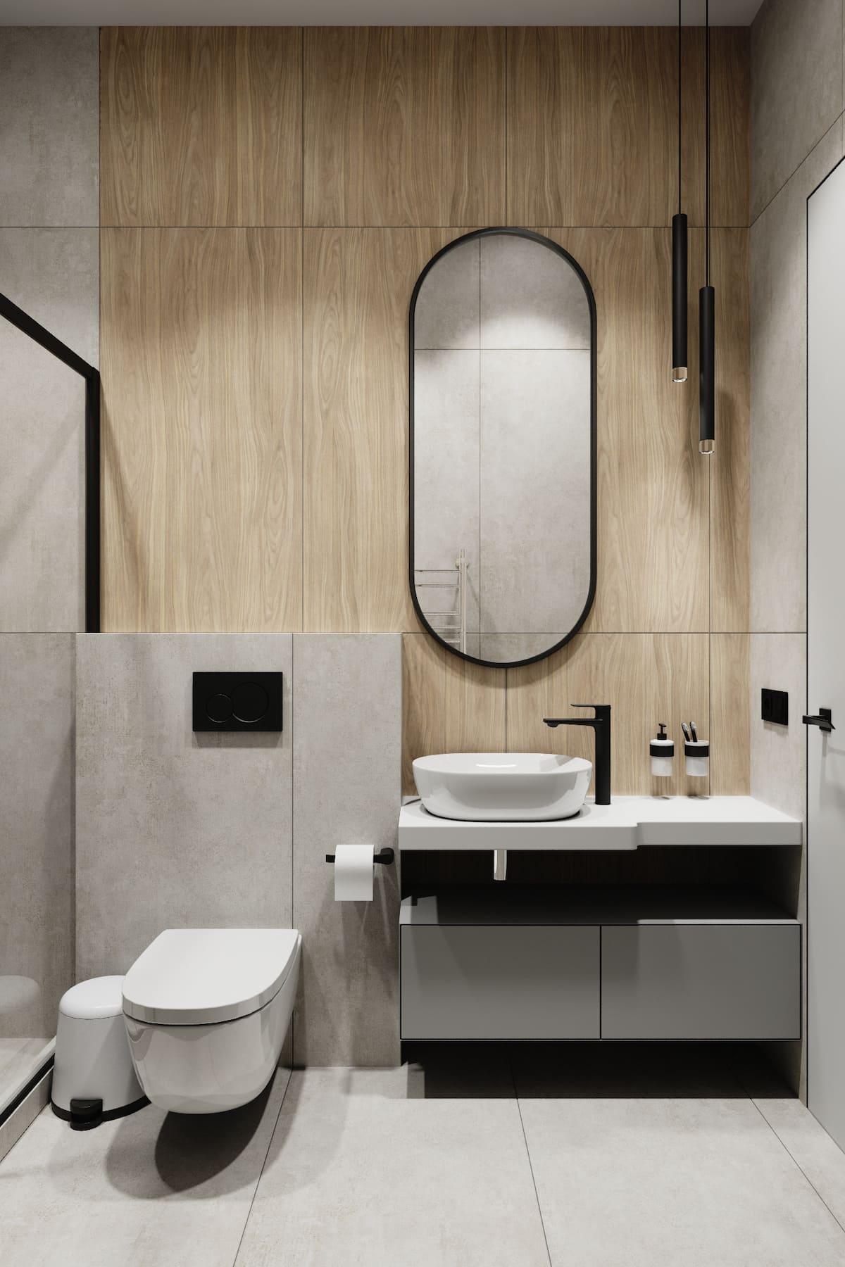 дизайн маленькой ванной фото 80