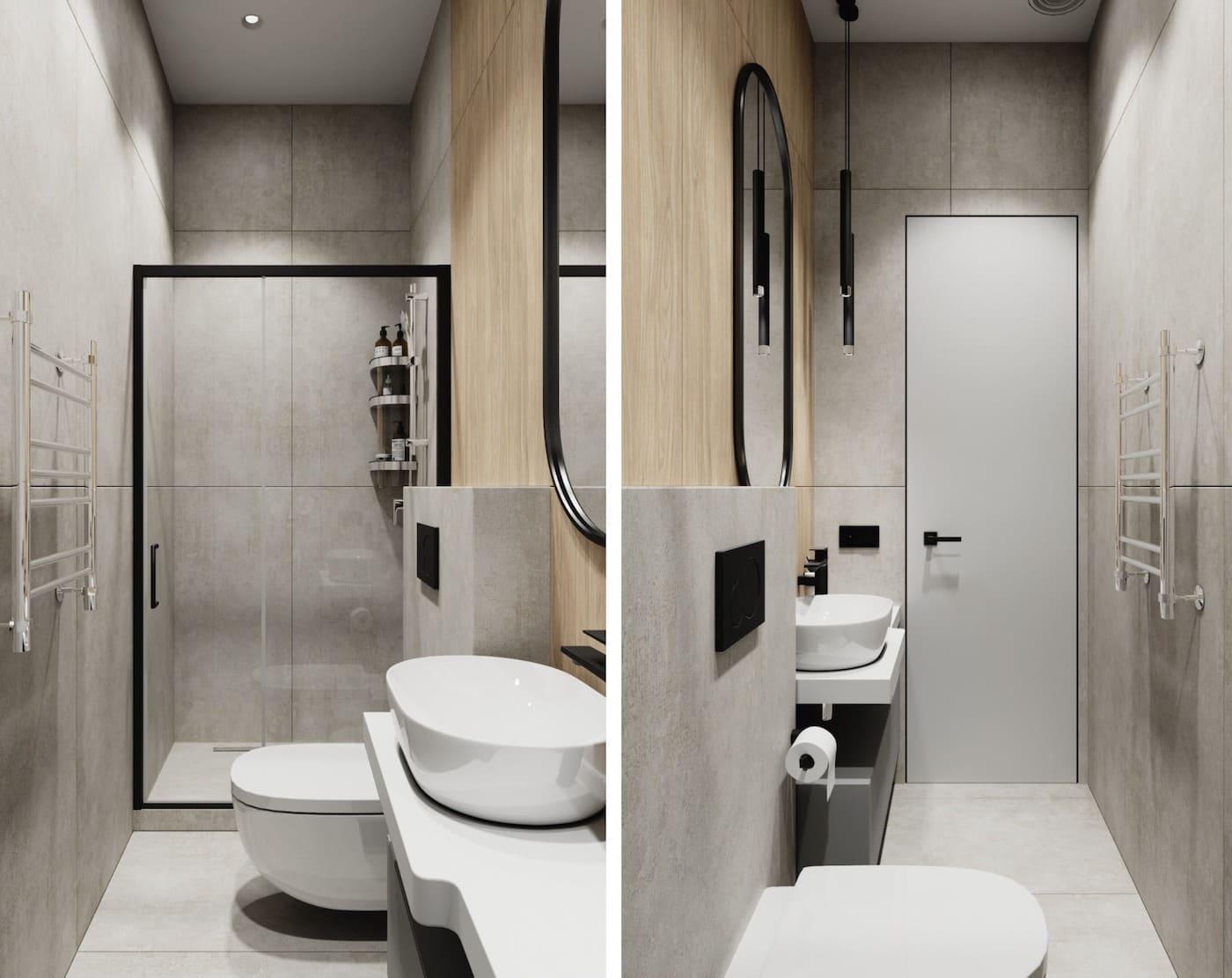 дизайн маленькой ванной фото 81