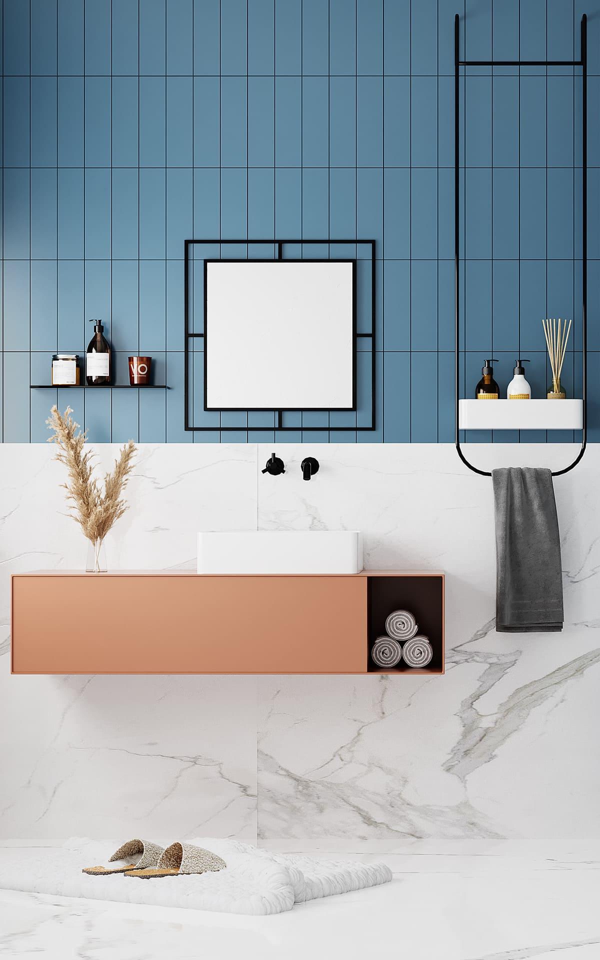 дизайн маленькой ванной фото 84
