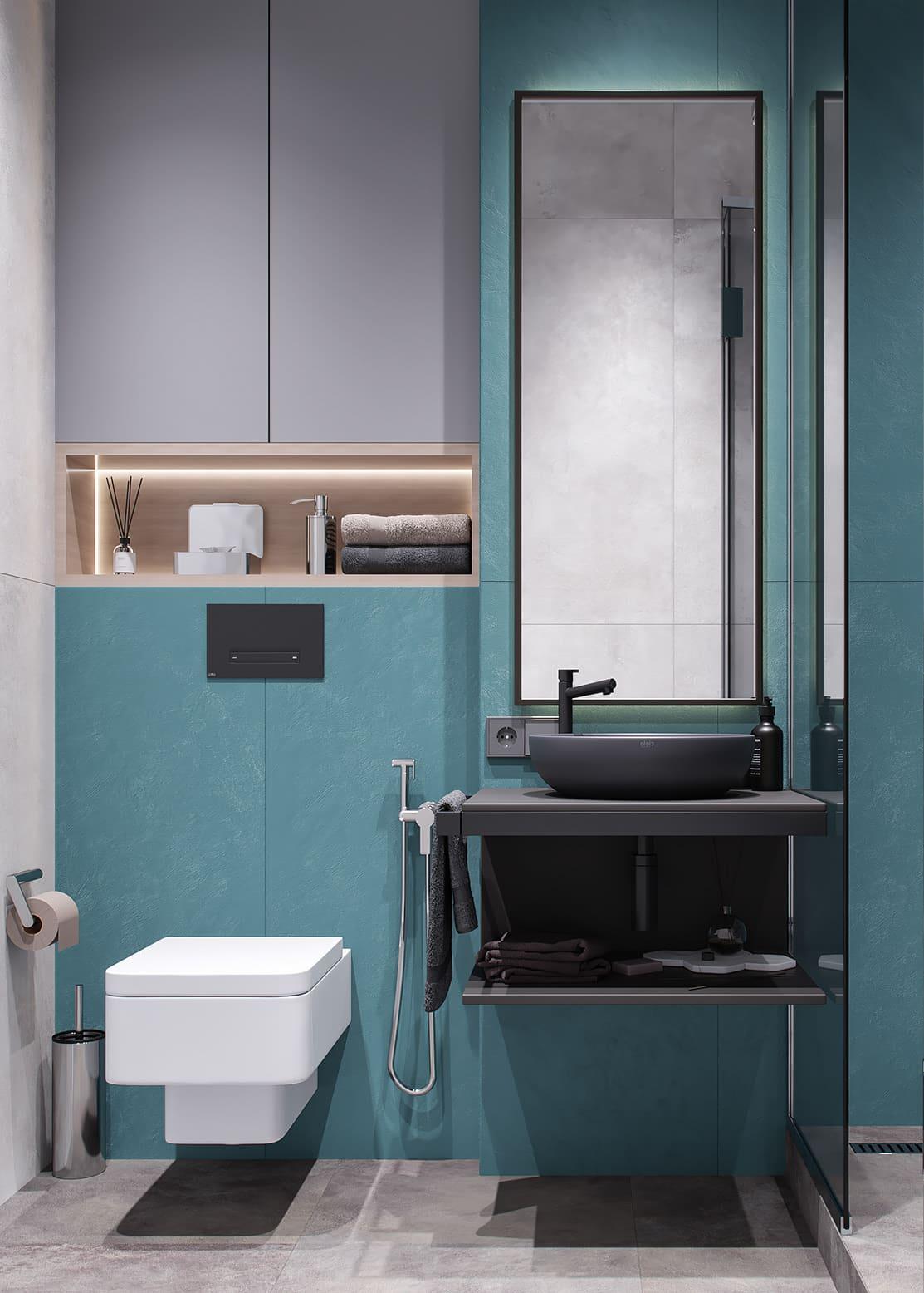 дизайн маленькой ванной фото 61