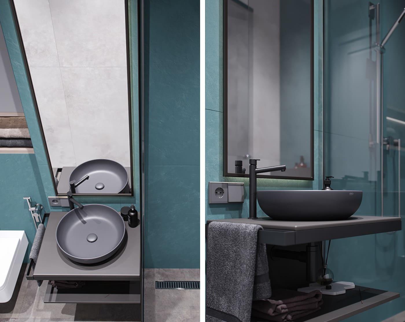 дизайн маленькой ванной фото 63