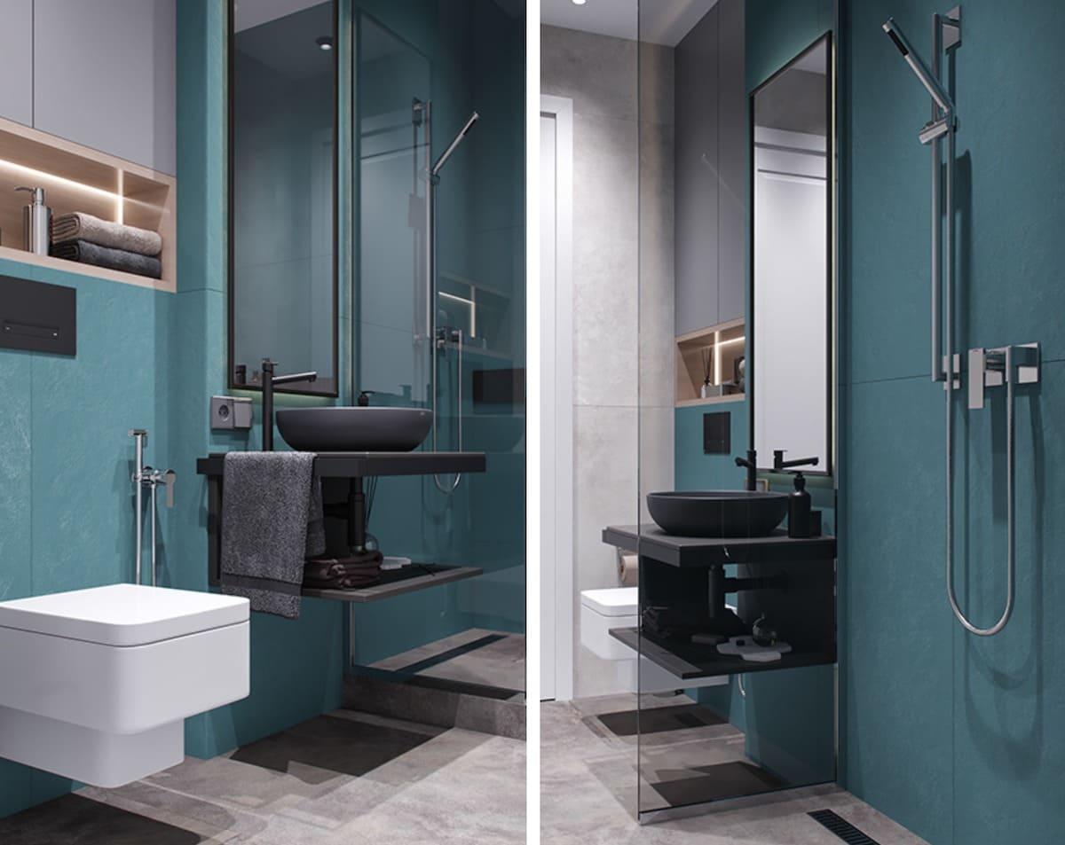 дизайн маленькой ванной фото 64