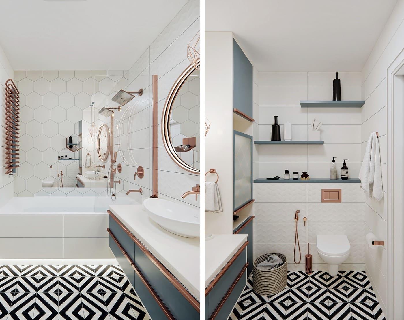 дизайн маленькой ванной фото 5