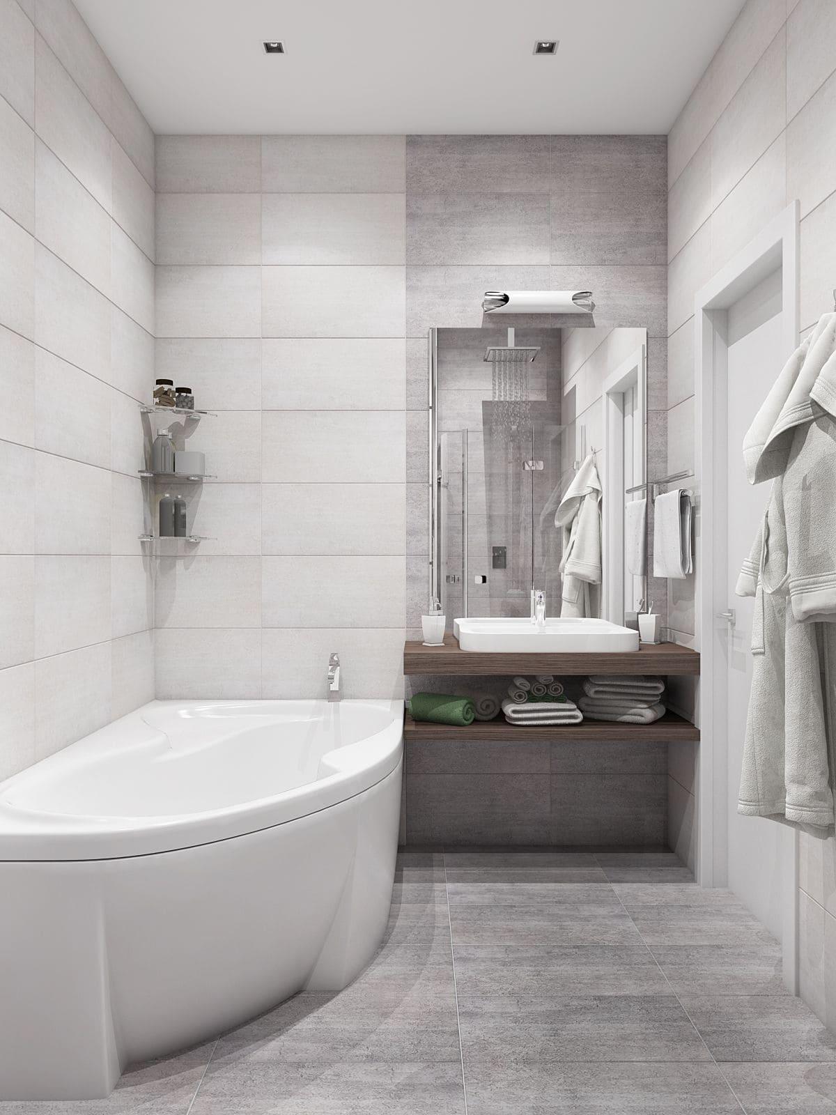 дизайн маленькой ванной фото 77