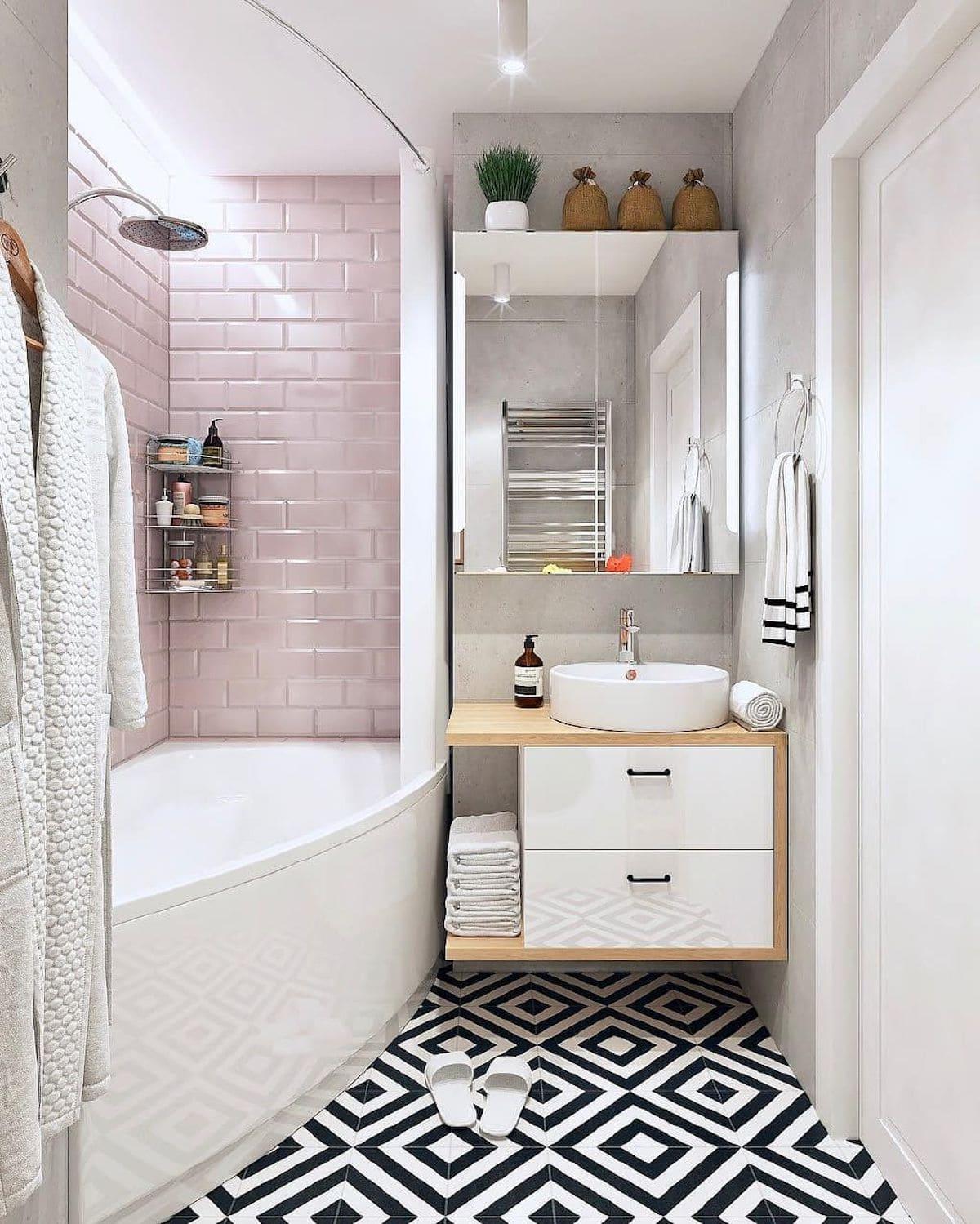 дизайн маленькой ванной фото 78