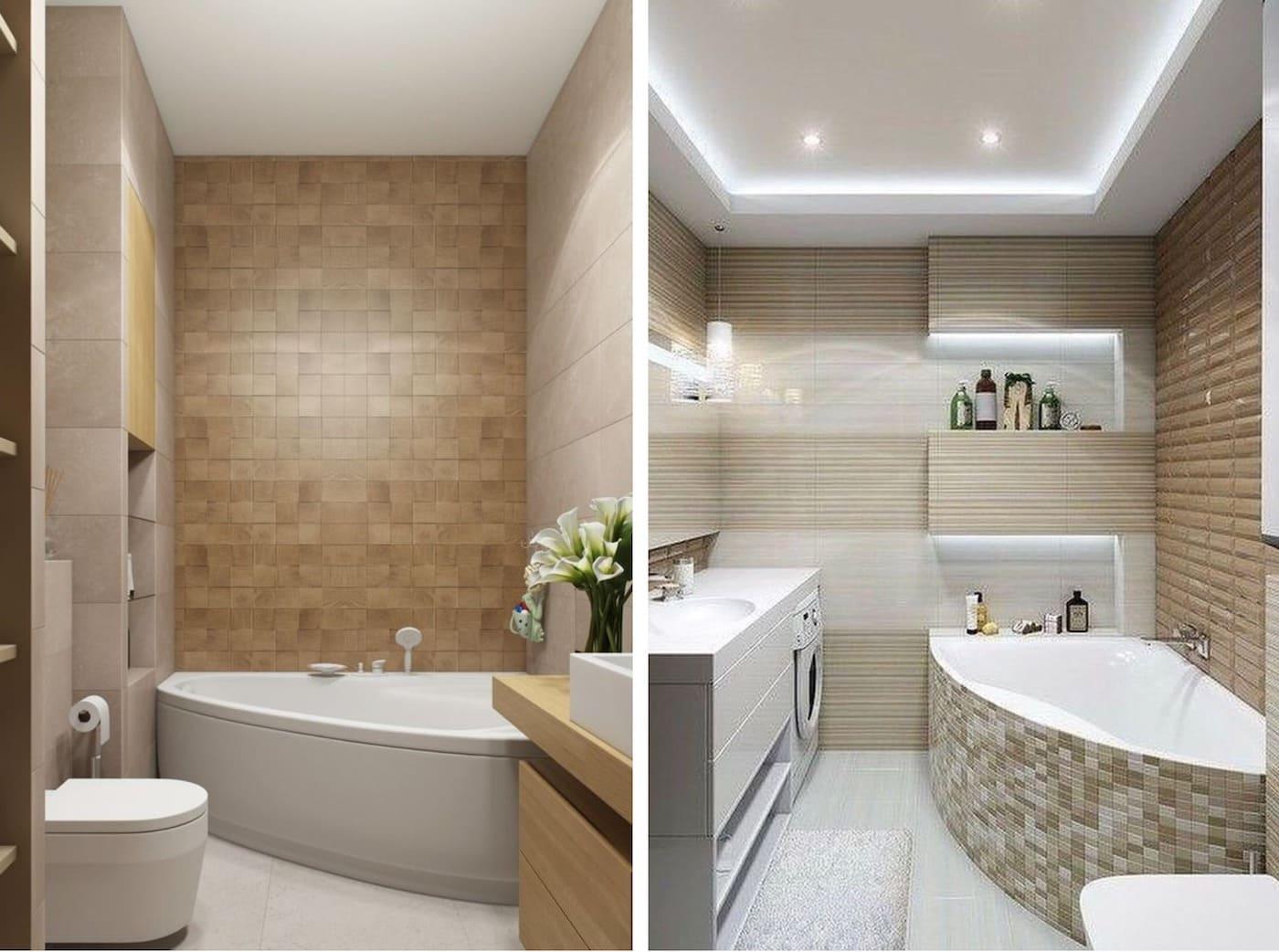 дизайн маленькой ванной фото 79