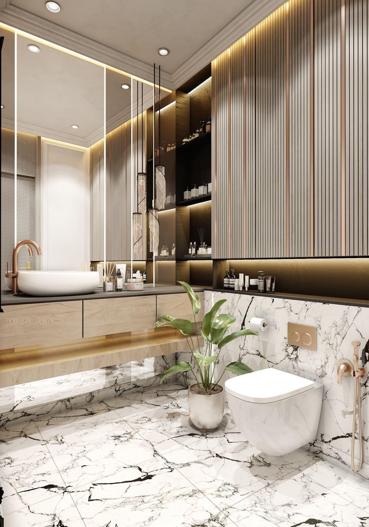 дизайн маленькой ванной фото 8