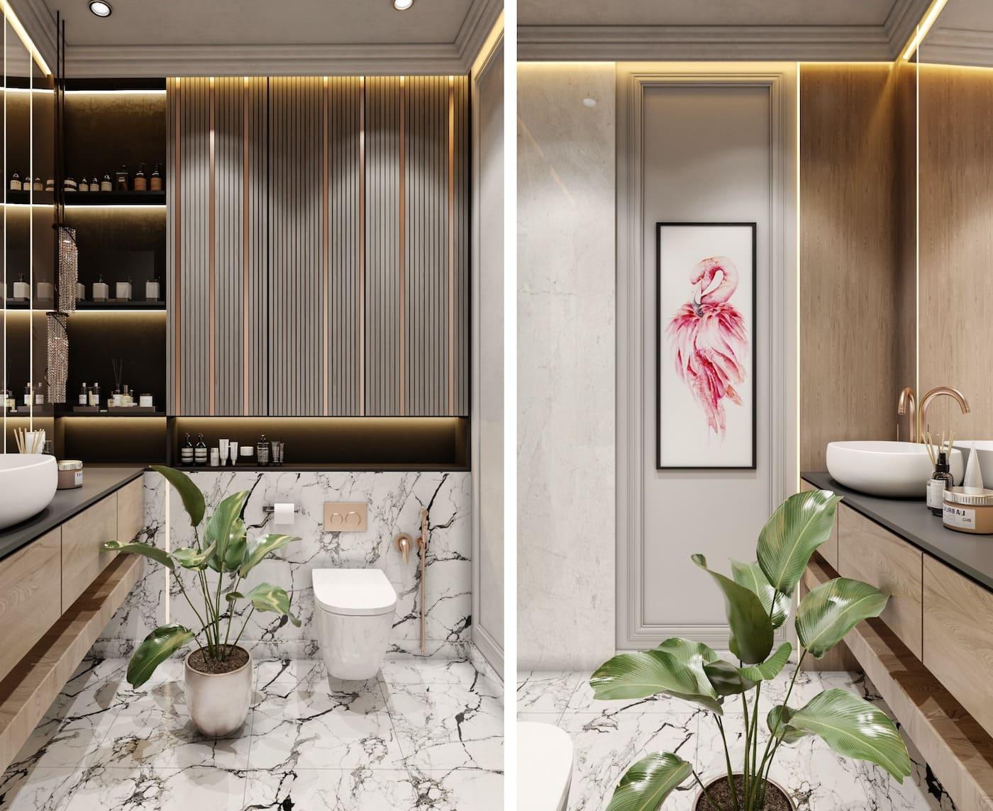 дизайн маленькой ванной фото 9