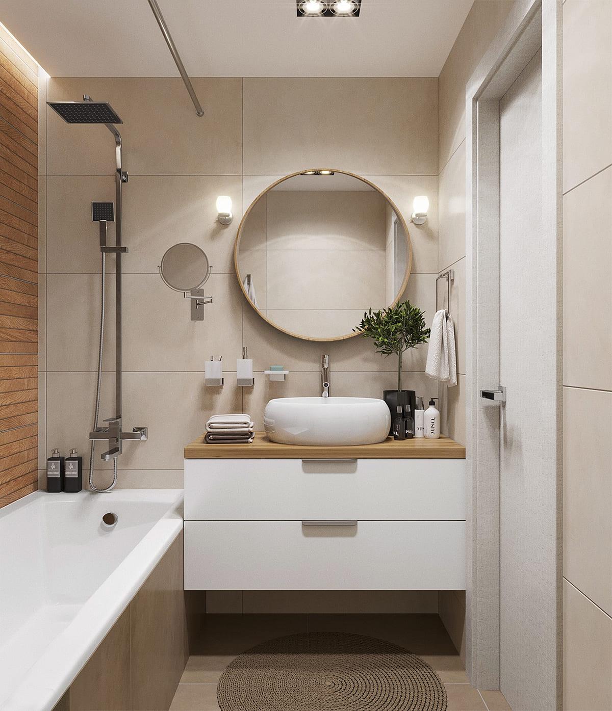 дизайн маленькой ванной фото 91