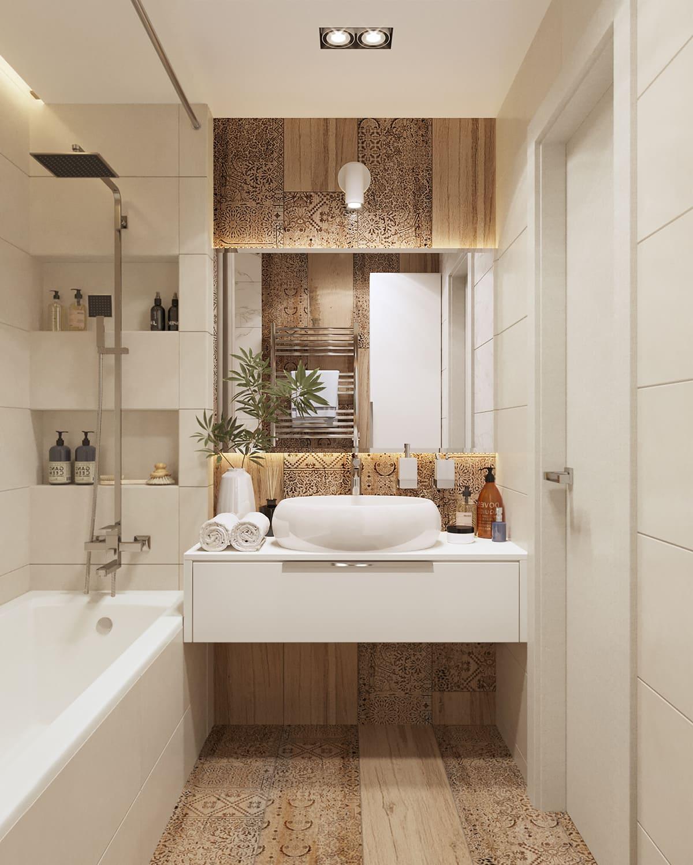 дизайн маленькой ванной фото 93