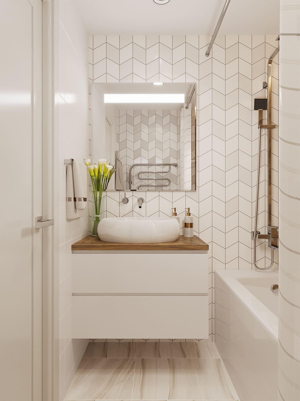 дизайн маленькой ванной фото 95