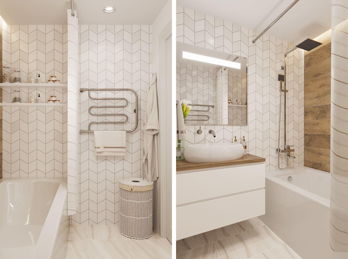 дизайн маленькой ванной фото 96