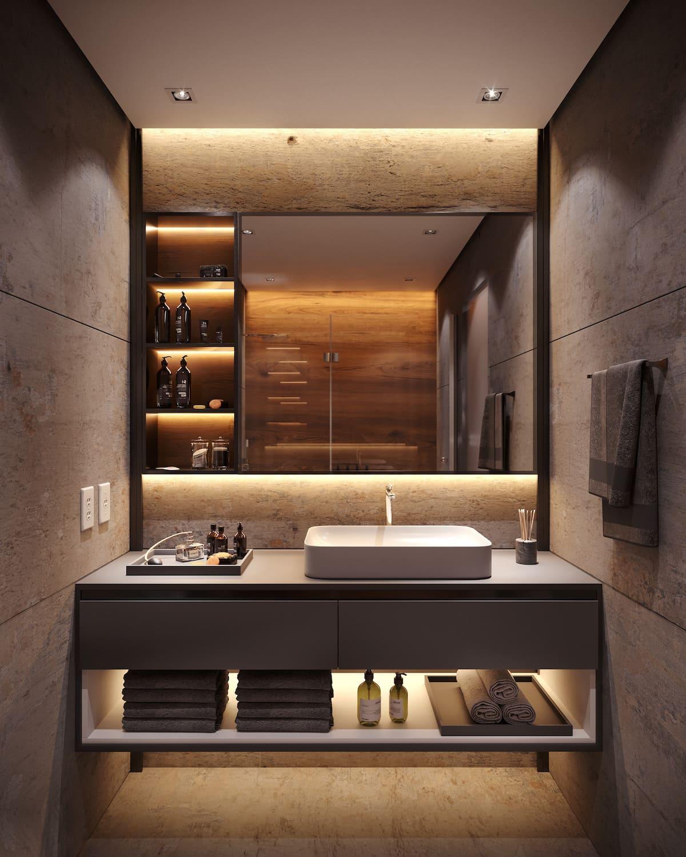 дизайн маленькой ванной фото 44