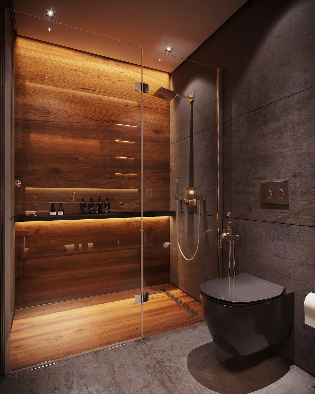дизайн маленькой ванной фото 45