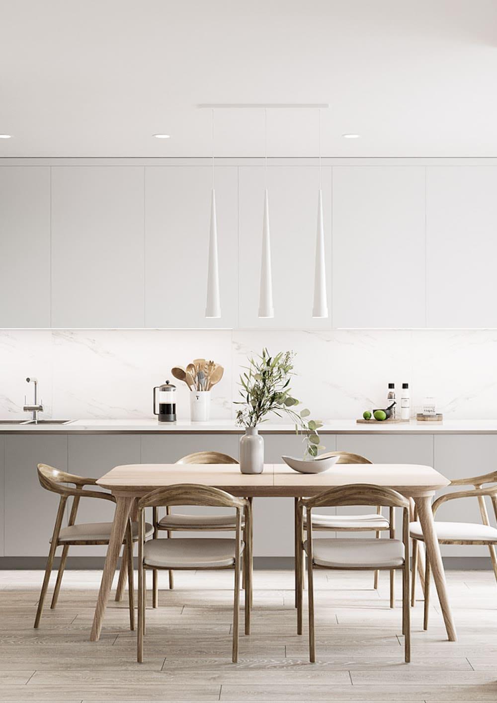 белая кухня фото 22