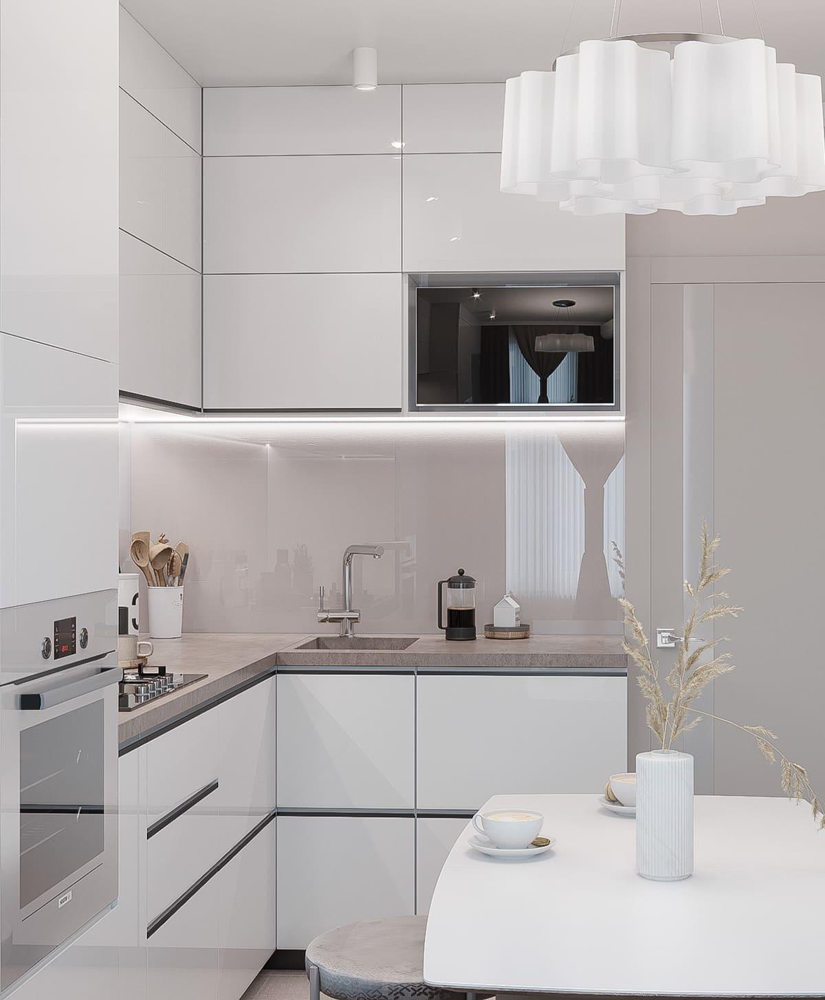 белая кухня фото 64