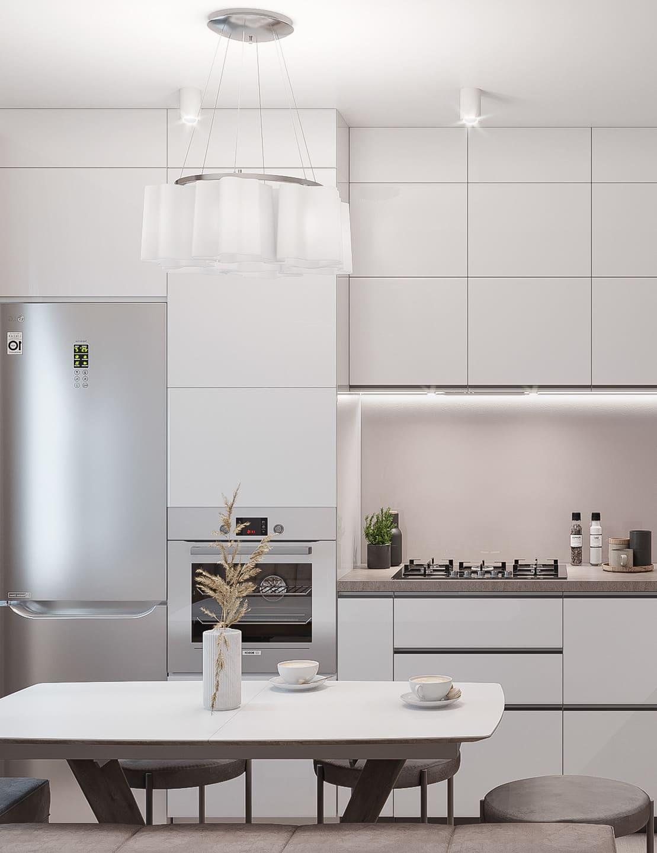 белая кухня фото 66