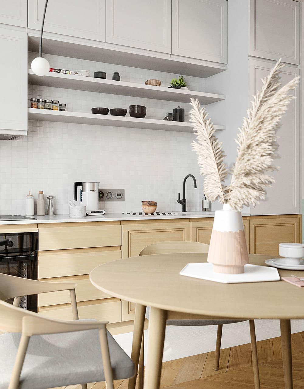 белая кухня фото 46