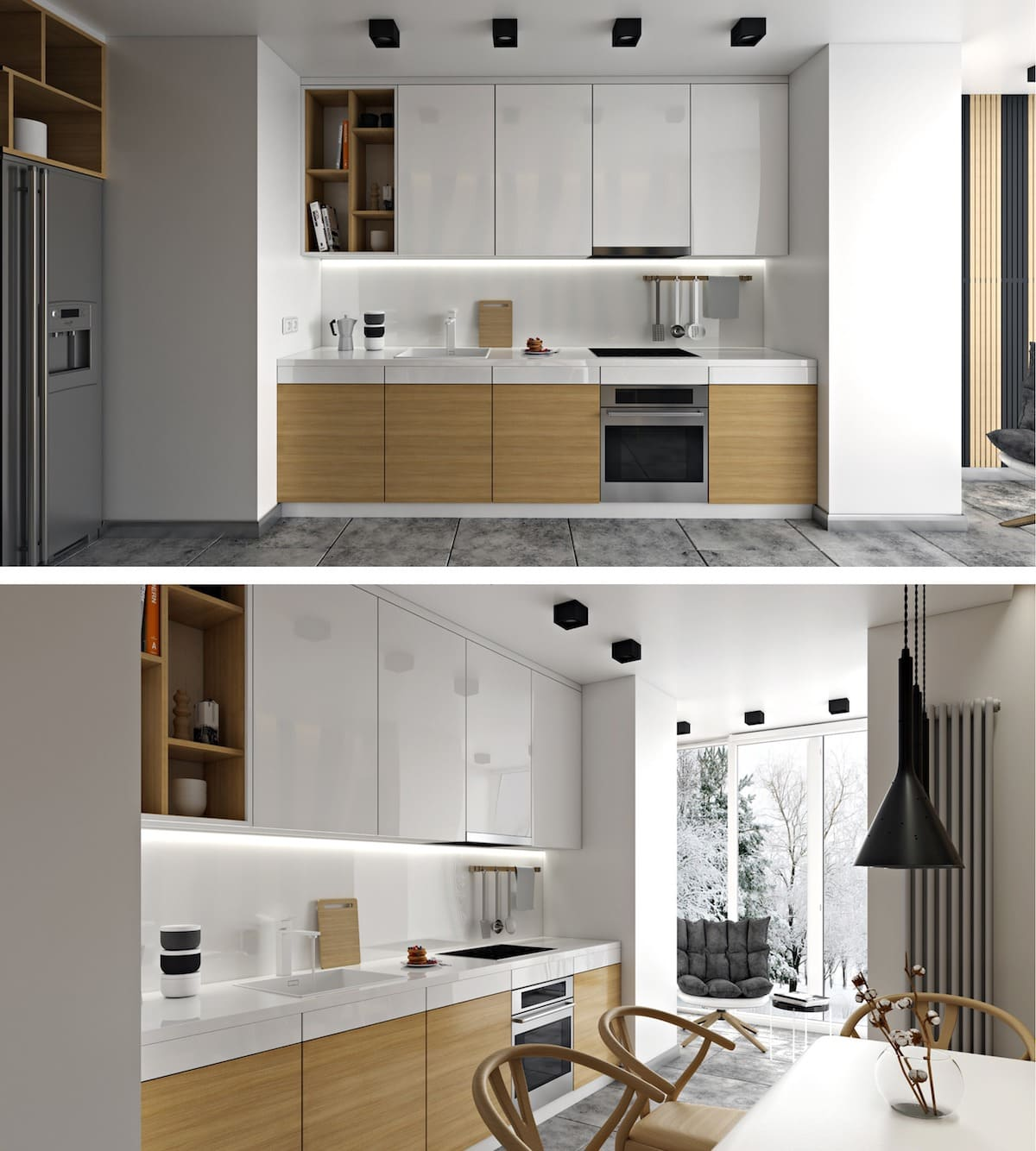 белая кухня фото 55