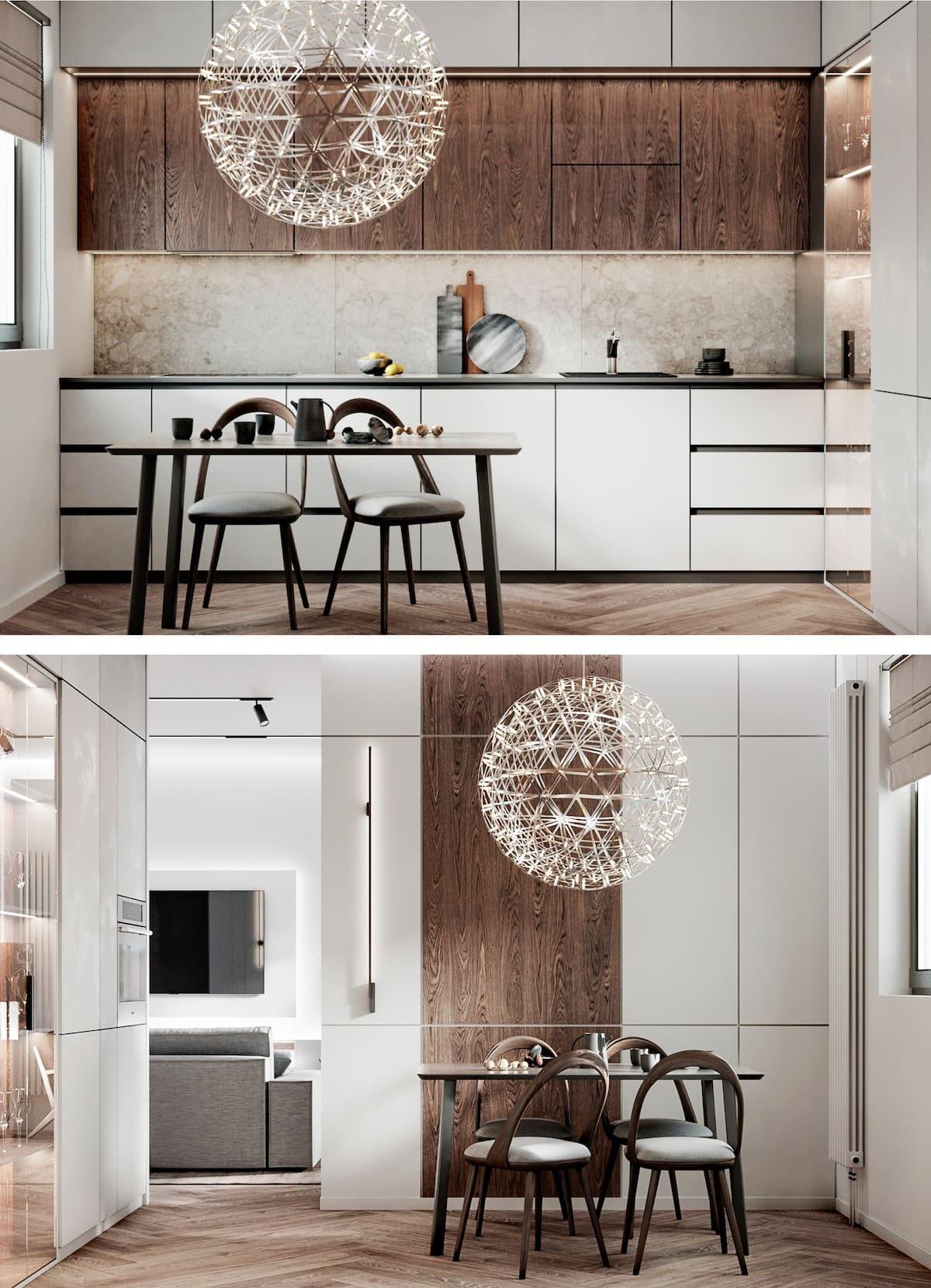 белая кухня фото 53