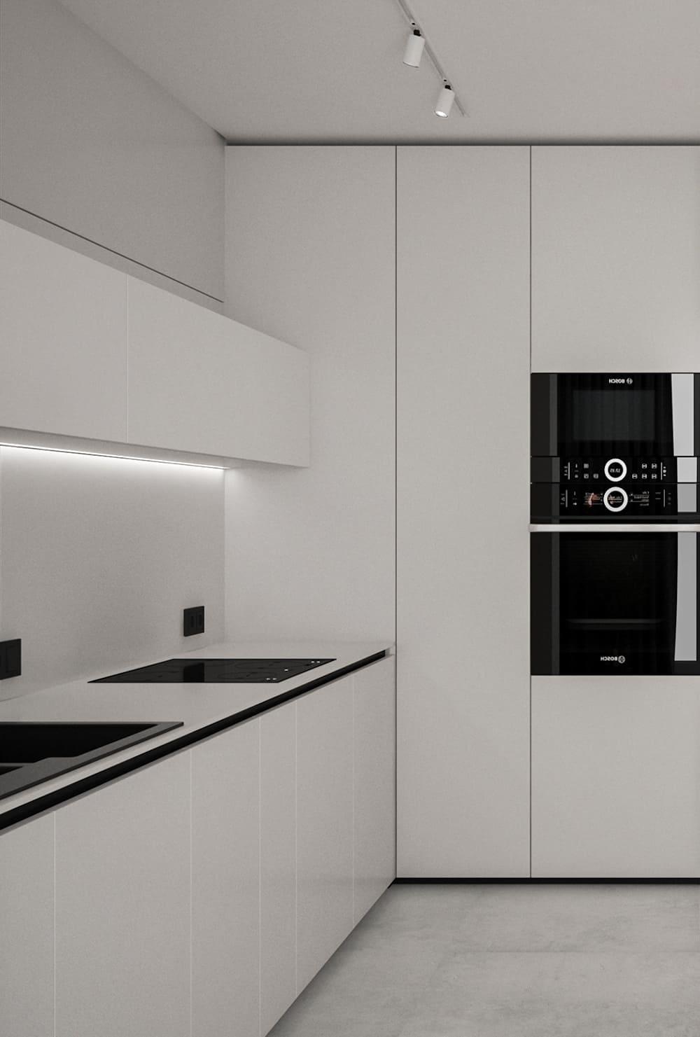 белая кухня фото 16