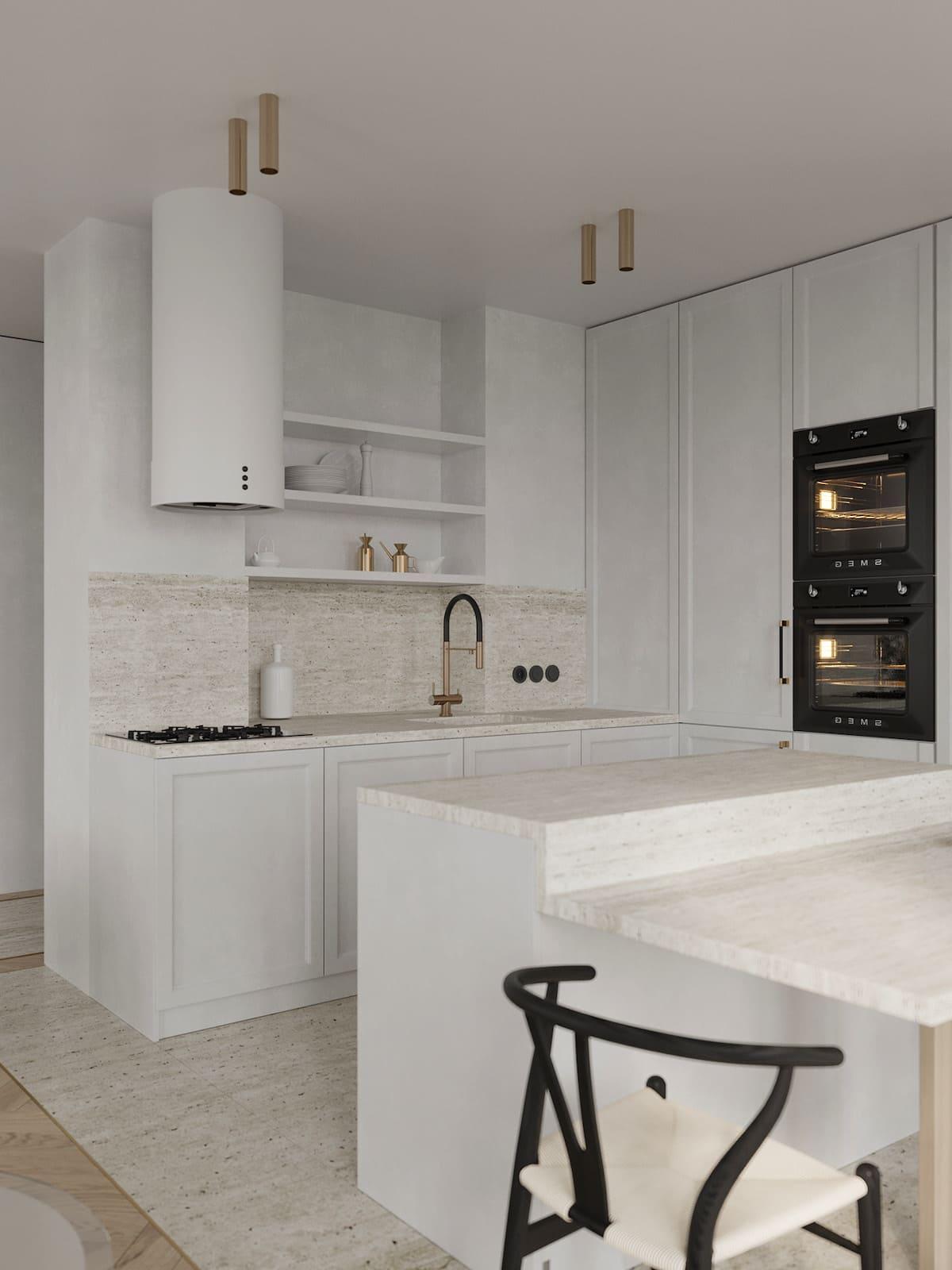 белая кухня фото 69