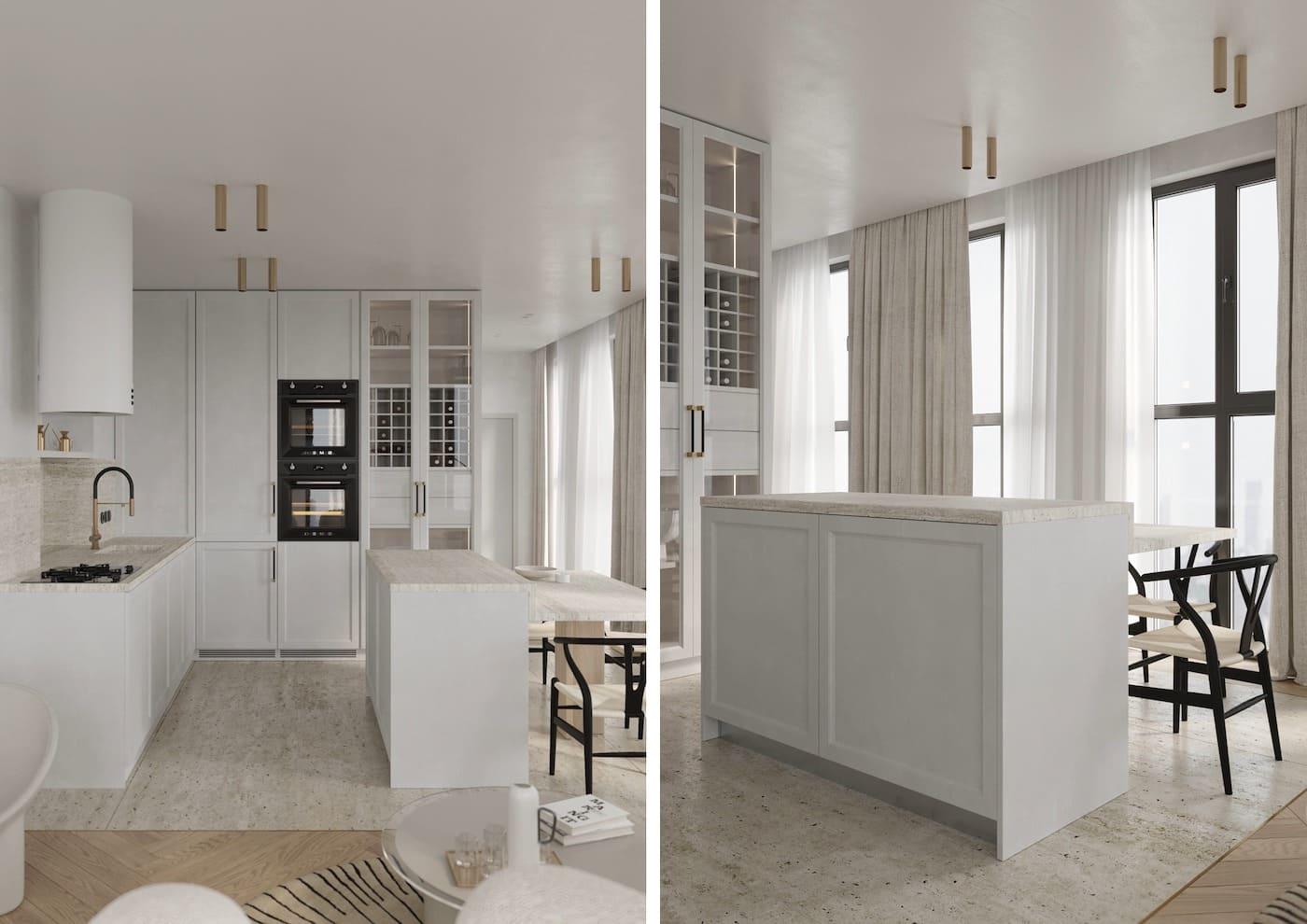 белая кухня фото 70