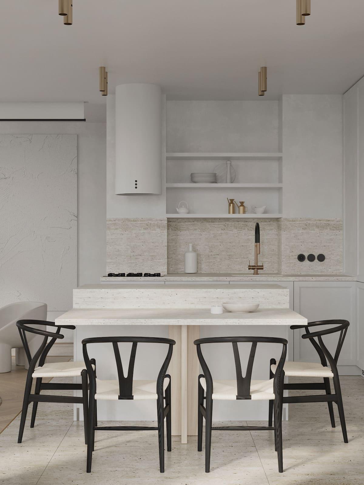 белая кухня фото 71
